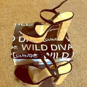 NEW black summer heels